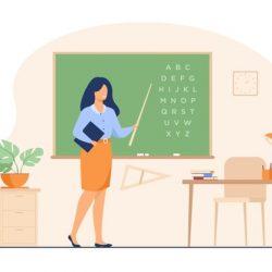 teacher-standing-near-blackboard-holding-stick-isolated-flat-vector-illustration-cartoon-woman-character-near-chalkboard-pointing-alphabet_74855-8600